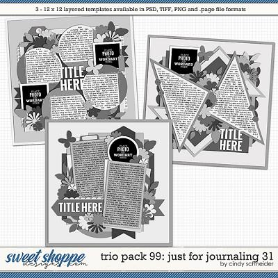 Cindy's Layered Templates - Trio Pack 99: Just for Journaling 31 by Cindy Schneider