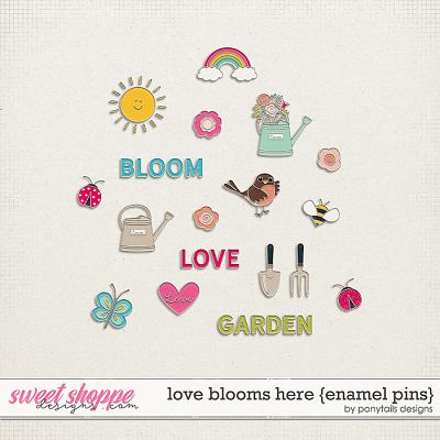 Love Blooms Here Enamel Pins by Ponytails