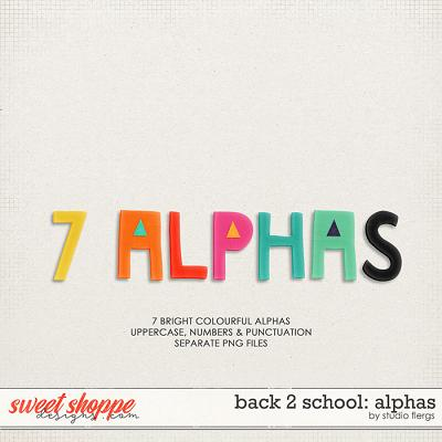 Back 2 School: ALPHAS by Studio Flergs