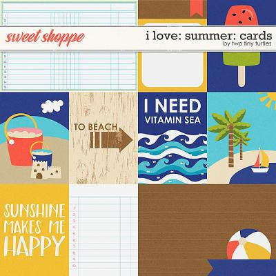 I Love: Summer Cards by Two Tiny Turtles