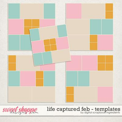 Life Captured February   Templates by Digital Scrapbook Ingredients