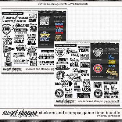 Cindy's Layered Stamps and Stickers: Game Time Bundle by Cindy Schneider