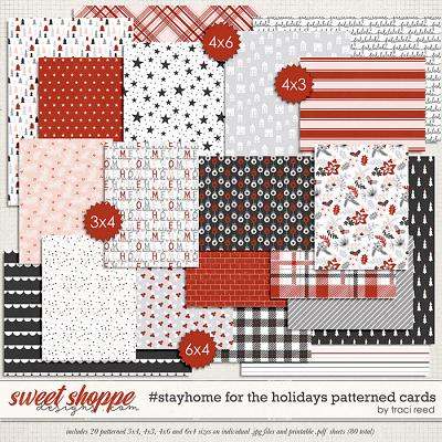 #StayHome for the Holidays: Patterned Cards by Traci Reed