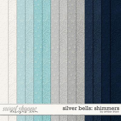 Silver Bells Shimmers by Amber Shaw