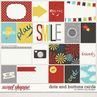 Dots and Buttons Cards by Dream Big Designs