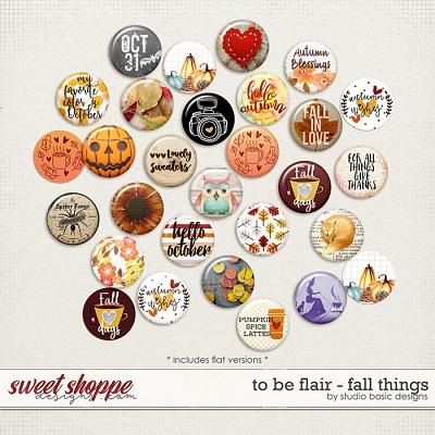 To Be Flair - Fall Things by Studio Basic