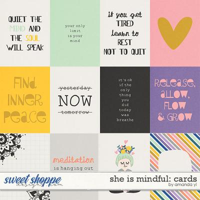 She is mindful: cards by Amanda Yi