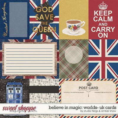 Believe in Magic: Worlds United Kingdom Cards by Amber Shaw & Studio Flergs