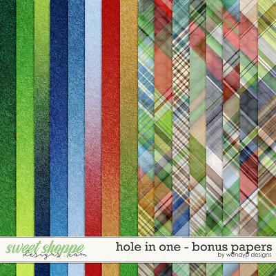 Hole in One - bonus papers by WendyP Designs