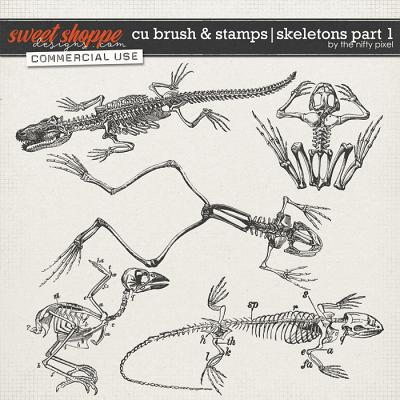 CU BRUSH & STAMPS | SKELETONS PART 1 by The Nifty Pixel