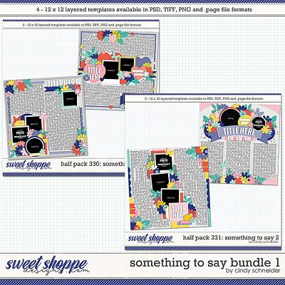 Cindy's Layered Templates - Something to Say Bundle 2 by Cindy Schneider