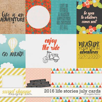 2016 Life Stories - July Cards by Sugary Fancy