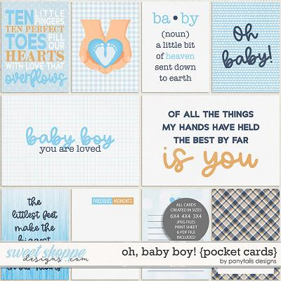 Oh Baby Boy! Pocket Cards by Ponytails