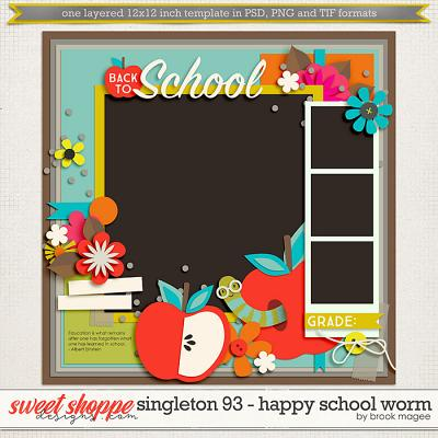 Brook's Templates - Singleton 93 - Happy School Worm by Brook Magee