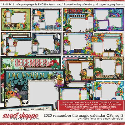 2020 Remember the Magic Calendar Quickpages: Set 2 by Cindy Schneider and Studio Flergs