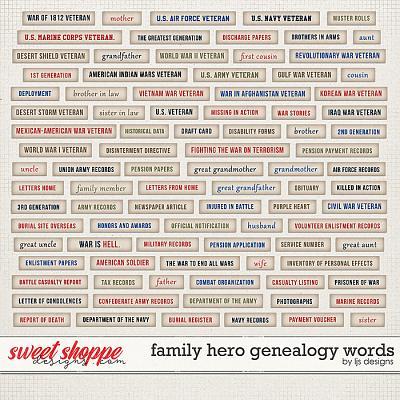Family Hero: Genealogy Words by LJS Designs