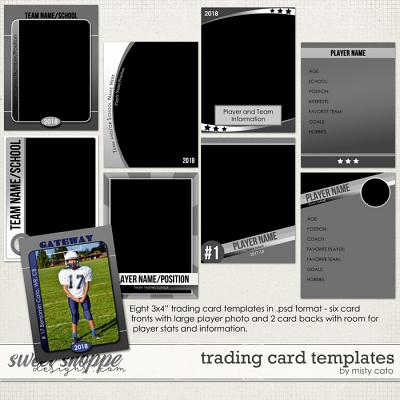 Trading Card Templates by Misty Cato