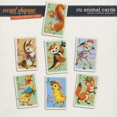 CU Animal Cards by Clever Monkey Graphics