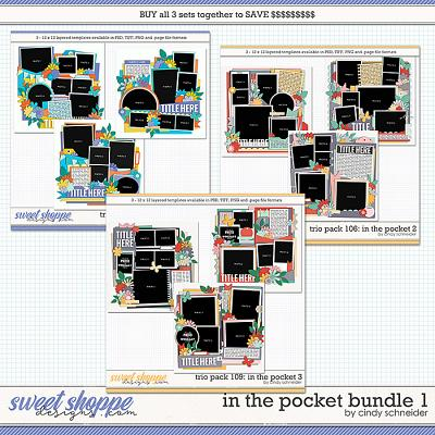 Cindy's Layered Templates - In the Pocket Bundle 1 by Cindy Schneider
