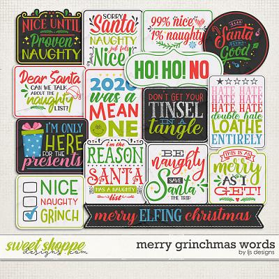 Merry Grinchmas Words by LJS Designs