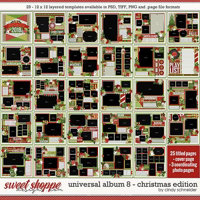 Cindy's Layered Templates - Universal Album 8: Christmas Edition by Cindy Schneider