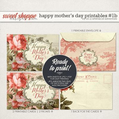 Happy Mother's Day Printable Card And Envelope Red by On A Whimsical Adventure