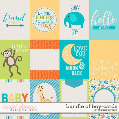 Bundle of Boy Cards by Melissa Bennett