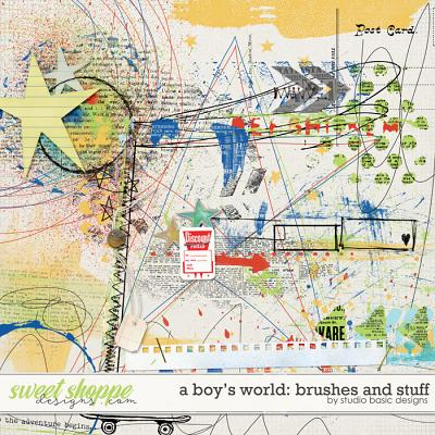 A Boy's World: Brushes And Stuff by Studio Basic