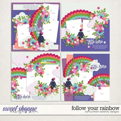 Follow Your Rainbow Layered Templates by Southern Serenity Designs