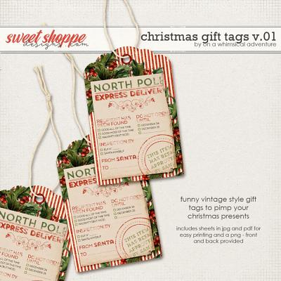 Christmas Gift Tags Vol01 by On A Whimsical Adventure