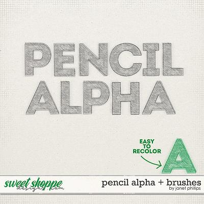 PENCIL ALPHA + BRUSHES by Janet Phillips