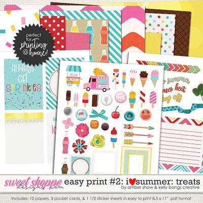 I Heart Summer: Treats EZ Print Pack 2 by Amber Shaw & Kelly Bangs Creative