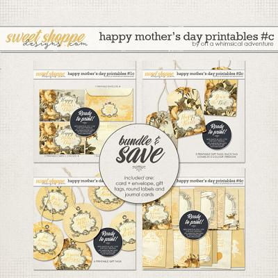 Happy Mother's Day Printables Yellow Bundle by On A Whimsical Adventure