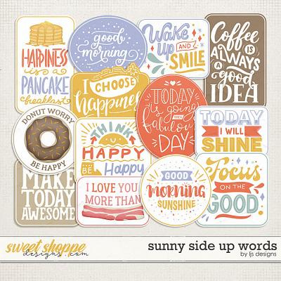 Sunny Side Up Words by LJS Designs