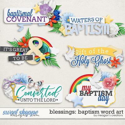 Blessings: Baptism Word Art by Meagan's Creations