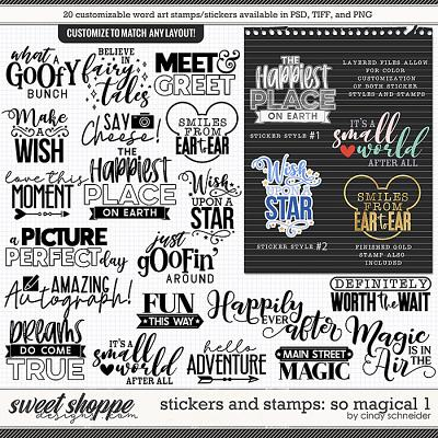 Cindy's Layered Stamps and Stickers: So Magical 1 by Cindy Schneider