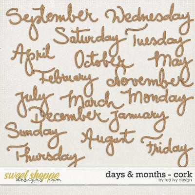Days & Months - Cork by Red Ivy Design