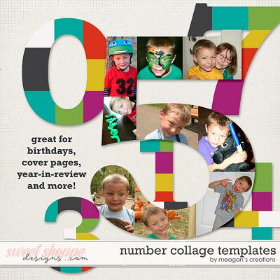 Number Collage Templates by Meagan's Creations