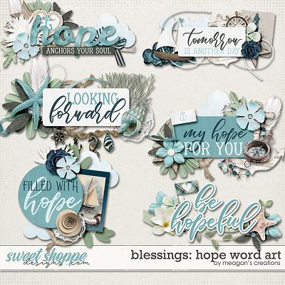 Blessings: Hope Word Art by Meagan's Creations