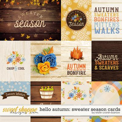 Hello Autumn: Sweater Season Cards by Kristin Cronin-Barrow
