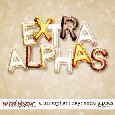 A Triumphant Day: Extra Alphabets by Grace Lee