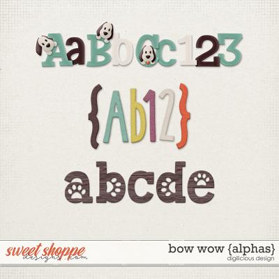 Bow Wow {Alphas} by Digilicious Design