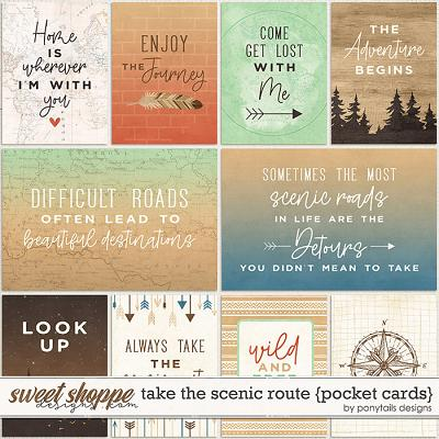 Take the Scenic Route Pocket Cards by Ponytails