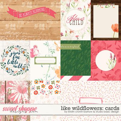 Like Wildflowers Cards by Kristin Cronin-Barrow and Studio Basic