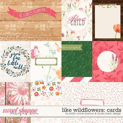 Like Wildflowers Cards by Kristin Cronin-Barrow and Studio Basic