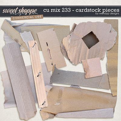 CU Mix 233 - Cardstick pieces by WendyP Designs