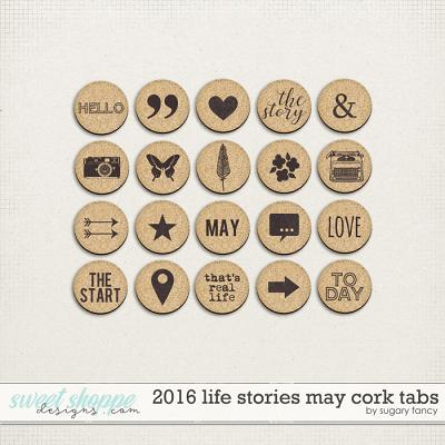 2016 Life Stories - May Cork Tabs by Sugary Fancy