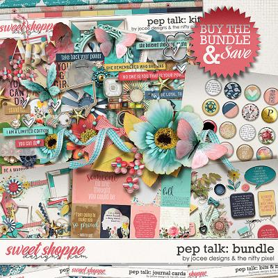 Pep Talk Bundle by JoCee Designs and The Nifty Pixel