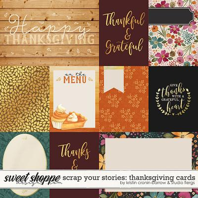Scrap Your Stories: Thanksgiving- CARDS by Studio Flergs & Kristin Cronin-Barrow