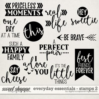 Everyday Essentials | Stamps 2 by Digital Scrapbook Ingredients